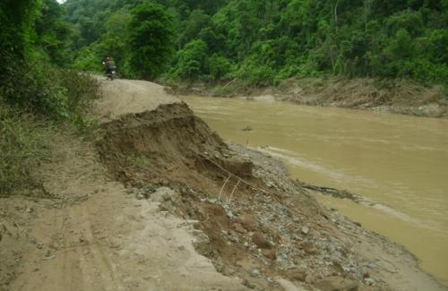 đất bị xói mòn do ô nhiễm nước